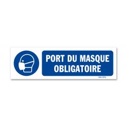 Panneau signalisation picto protection obligatoire voies respiratoires