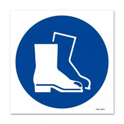 Panneau signalisation picto protection obligatoire des pieds