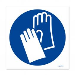 Panneau signalisation picto protection obligatoire des mains