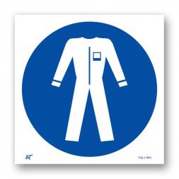 Panneau signalisation picto protection obligatoire du corps