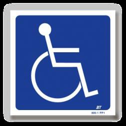 Panneau signalisation picto handicapé