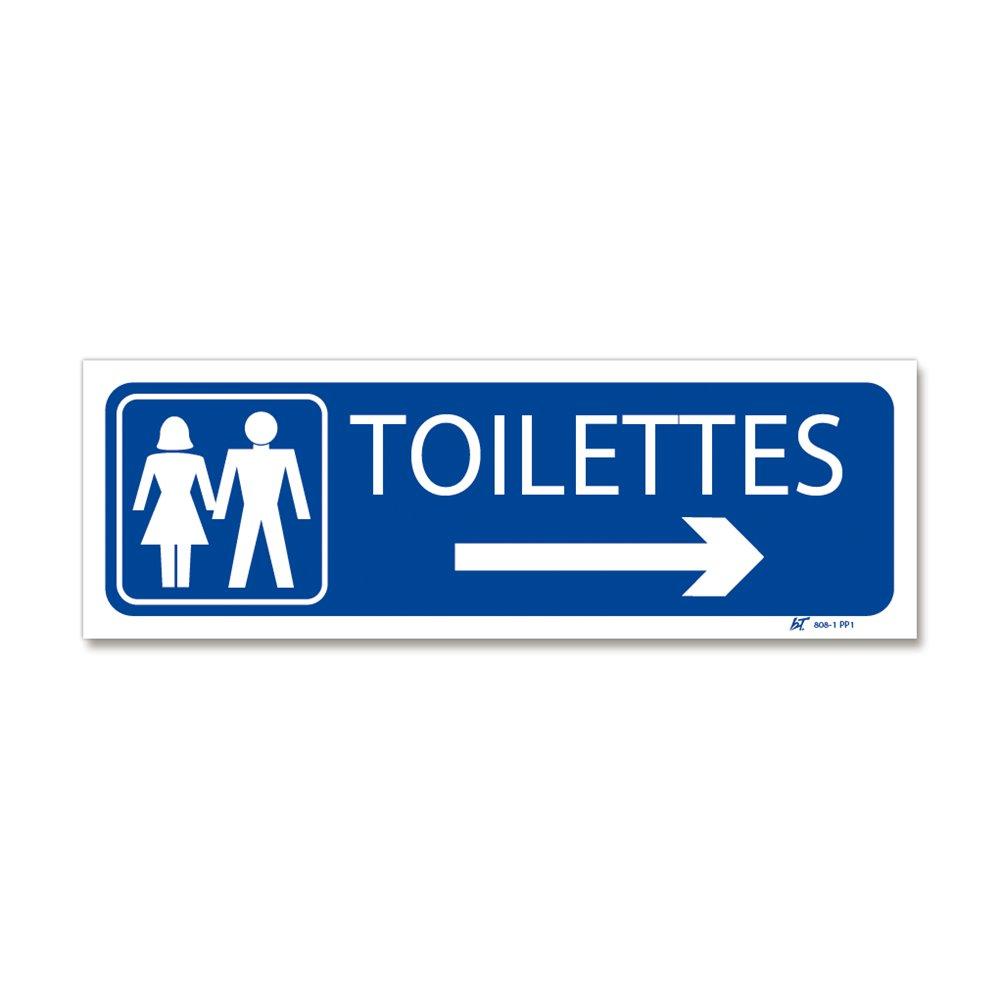 """Panneau signalisation picto """"toilettes"""" + flèche droite"""