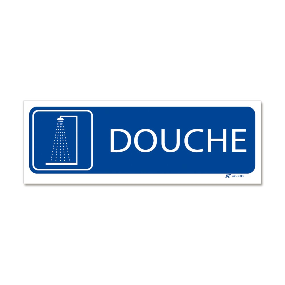"""Panneau signalisation picto """"douche"""""""