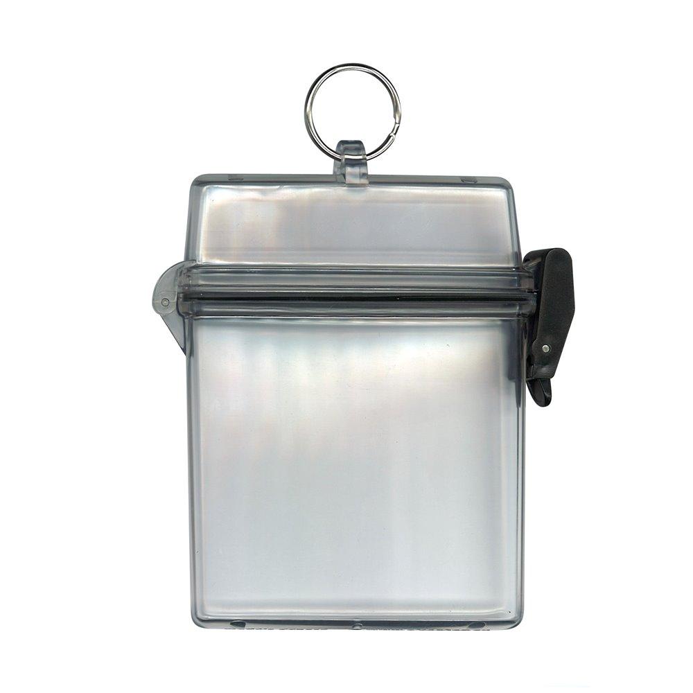 boitier etanche transparent pour pieces d identite avec anneau