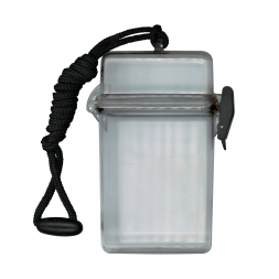 Boitier vide-poches étanche transparent avec cordon