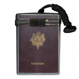 etanche porte passeport rouge avec cordon