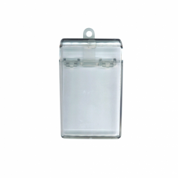 transparent badge holder case en