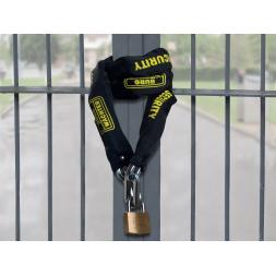 chaîne de securite carree haute resistance with padlock en