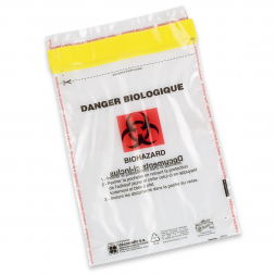 Pochette Biohazard pour prélèvements médicaux