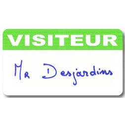 badge visiteur satin laserlab personnalise mr dujardin