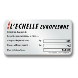 pre printed protected adhesive polyester plate echelle europeenne en