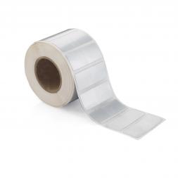 etiquette constructeur polyester double adhesif 3m vierge en rouleaux tth