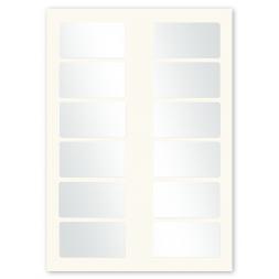 plaque firme polyester double adhesif planche a4 douze etiquettes