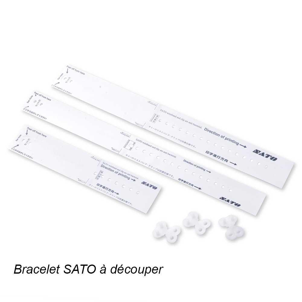 Bracelet d'identification patient imprimable SATO