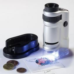 mini microscope de poche lumineux