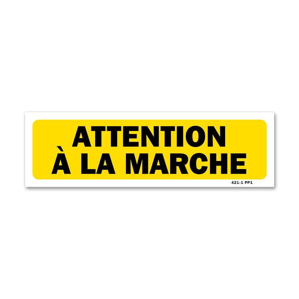 """Panneau indication """"attention à la marche"""""""