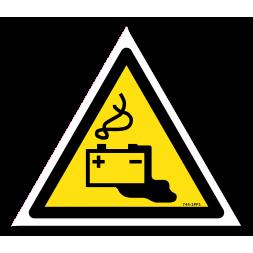 Panneau danger picto batterie en charge