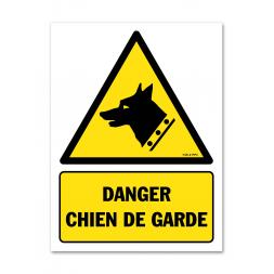 Panneau danger picto chien de garde