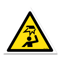 Panneau danger picto obstacle en hauteur