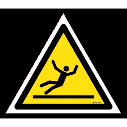 Panneau danger picto surface glissante
