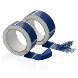 extreme temperatures anti fraud sticker seals blue rolls