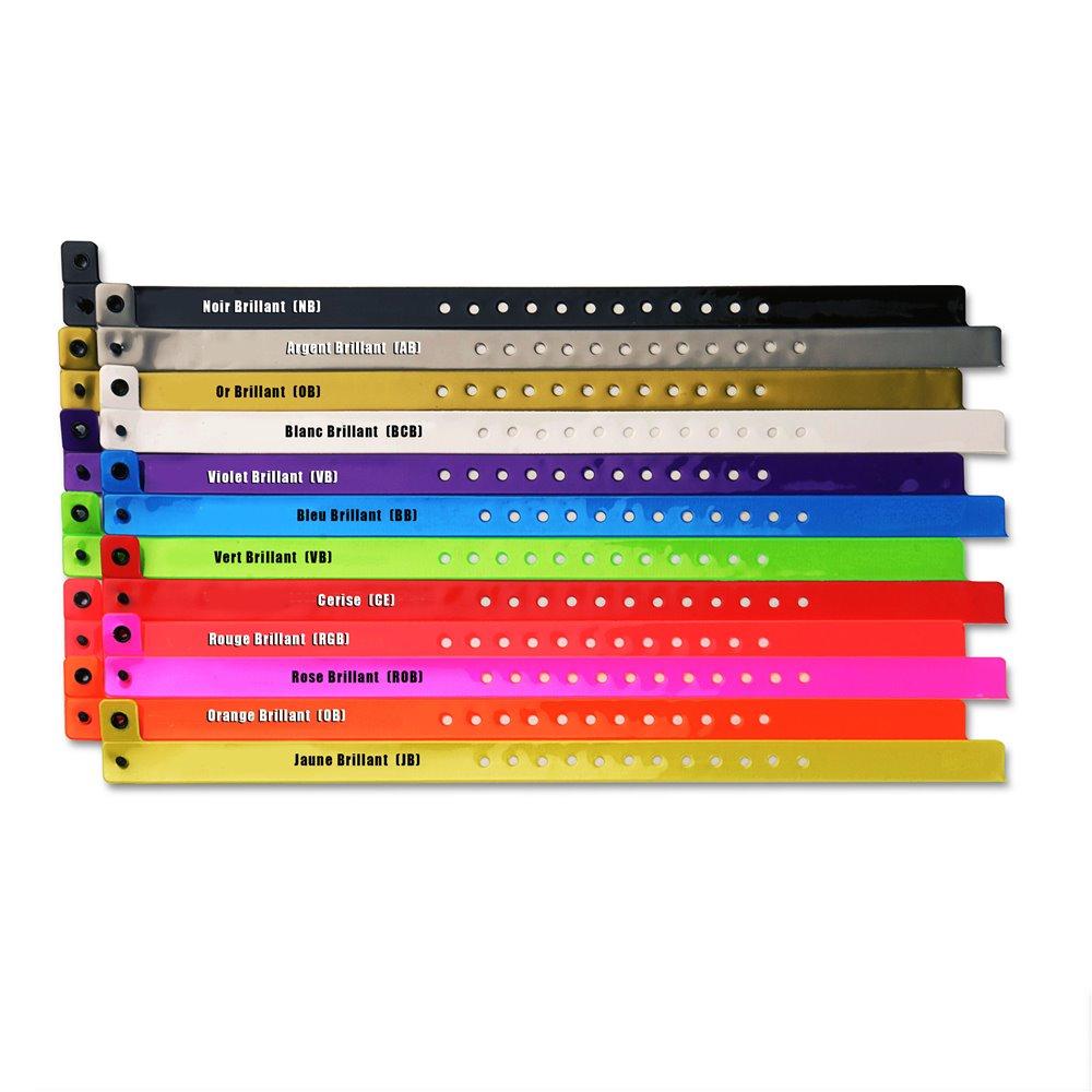 bracelets vinyle souples personnalises brillants
