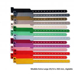bracelet vinyle model extra large plusieurs couleurs