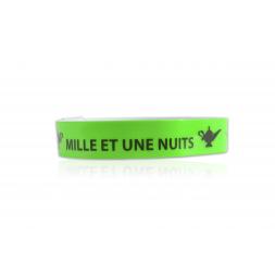 bracelet vinyle souple couleur vert