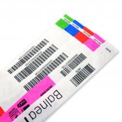 Bracelet sécurisé Tyvek personnalisé avec code-barres