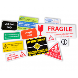 Descriptive Adhesive Sticker