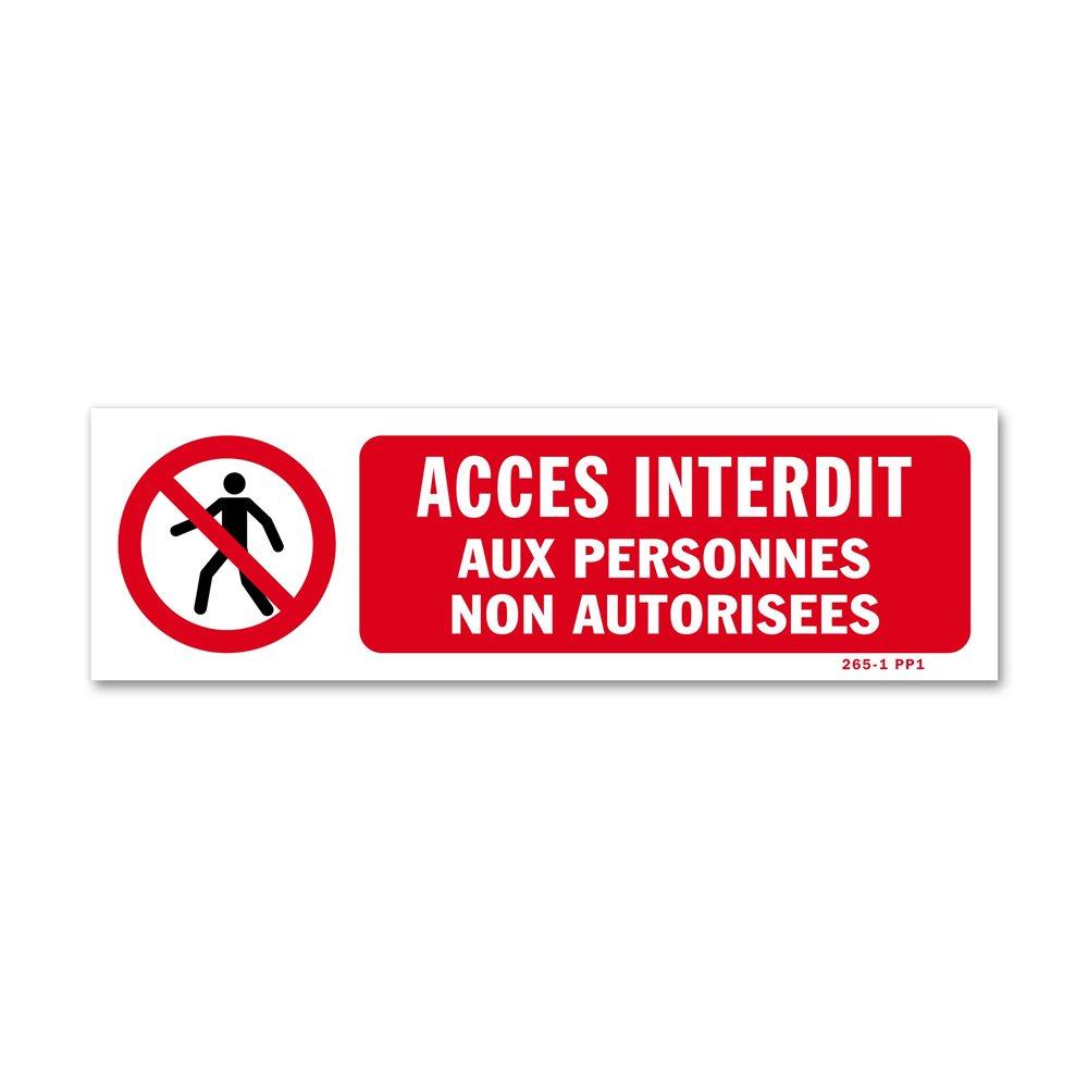 """Panneau avertissement picto """"accès interdit personnes non autorisées"""""""