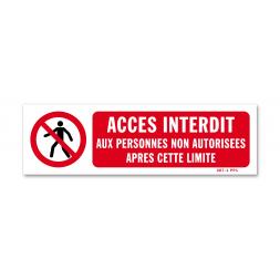 """Panneau avertissement picto """"accès interdit après limite"""""""