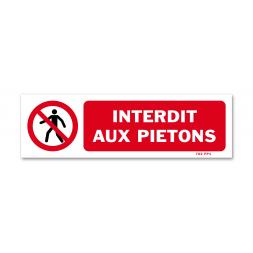 """Panneau avertissement picto """"interdit aux piétons"""""""