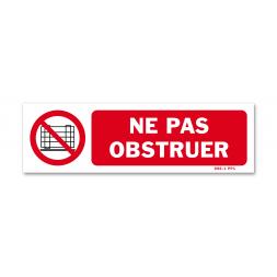 """Panneau avertissement picto """"ne pas obstruer"""""""