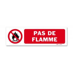 """Panneau avertissement picto """"pas de flamme"""""""