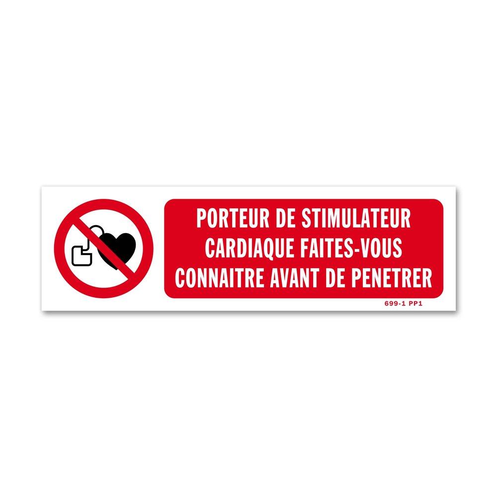 """Panneau avertissement picto """"porteur de simulateur cardiaque"""""""