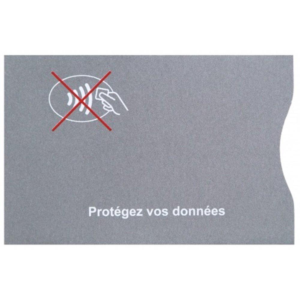 protection carte bancaire en couleur grise