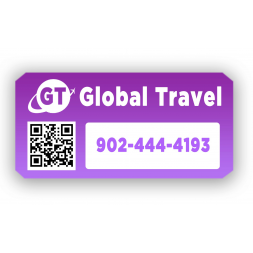 plaque protegee adhesif personnalisee global travel qr code