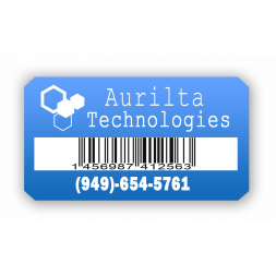 custom extremely adhesive asset tag aurilta technologies barcode en