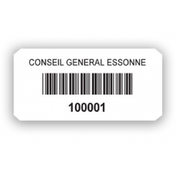 custom extremely adhesive asset tag conseil general essone barcode en