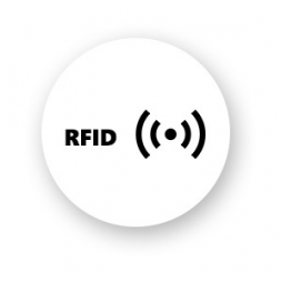 round shape blank rfid label