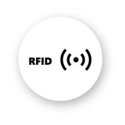 round shape rfid pvc label