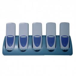 5 positions cradle simultaneous recharging and communication en