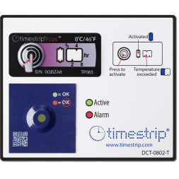 timestrip temperature indicator inspection label with qr code
