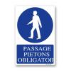 Panneau signalisation picto passage piéton