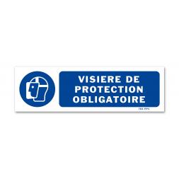 Panneau signalisation picto protection obligatoire du visage
