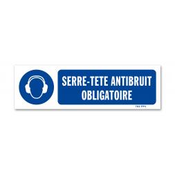 Panneau signalisation picto protection obligatoire ouie