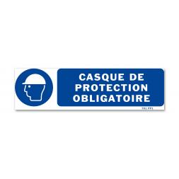 Panneau signalisation picto protection obligatoire tete