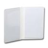 white pvc double sided card holders en