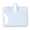 Porte-badges souples avec clip en plastique blanc